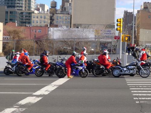 santas on bikes