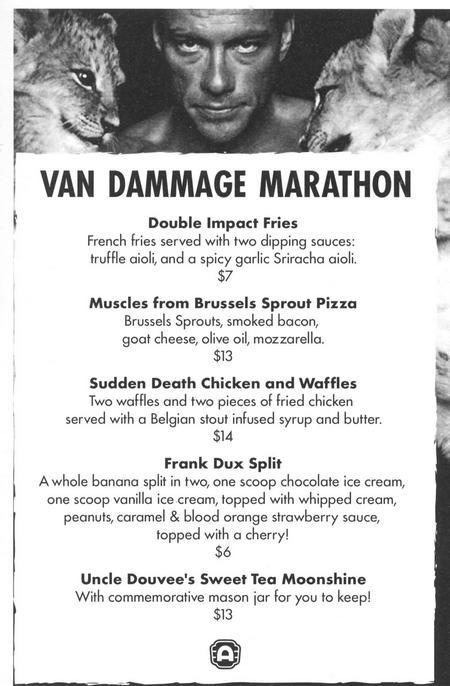 van dammage menu 450