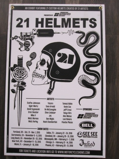 21 helmets created by 21 500 artists