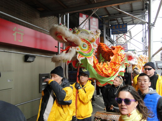 yees the dragon march on bowery