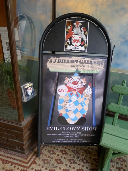 aj dillon evil clown art show 450