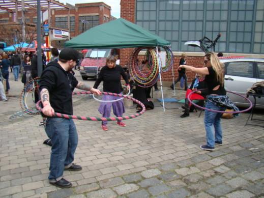 steve burks hula hoop twirl arcade